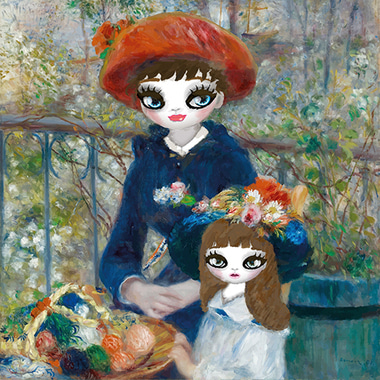 Two sisters–remastered (hommage of Pierre-Auguste Renoir's) 2017