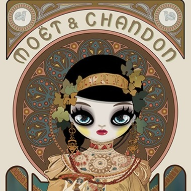 Moet & Chandon: Grand Cremant Imperial (homage to Alphonse Mucha) 2018