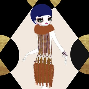 Manhattan Mary V (homage to Erté) 2018