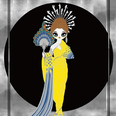 Athena (homage to Erté) 2018